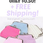 *HOT* Clutch Change Purse Mini Handbag Pouch Only $0.76 + FREE shipping!