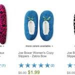 *HOT* Women's Joe Boxer Slippers Only $1.99!