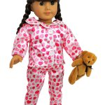 "Amazon: American Girl Doll 4 Piece ""Hearts and Kisses"" Pajamas Outfit Only $13.95 (Reg. $24.95)"