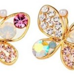 Multicolor Rhinestone Butterfly Earrings Only $1.86 + FREE Shipping!