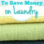 4 Ways To Save Money On Laundry