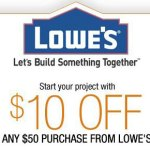 Lowe's: $10 off a $50 Purchase Coupon!