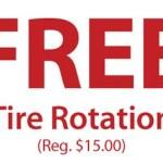 FREE Tire Rotation at Sears