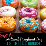 National Doughnut Day Freebie Round-Up = LOTS OF FREE DONUTS!