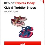 *HOT* Target: 40% Off Kids and Toddlers Shoes + $5 off $25 Coupon to Stack = AMAZING Deals!