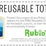 Rubio's: FREE Reusable Tote Bag!