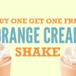 Arby's: Buy 1 Orange Cream Shake, Get 1 Orange Cream Shake FREE Coupon!