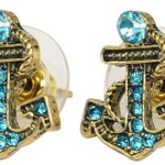 Crystal and Gold Anchor Earrings Only $3.09 Shipped!