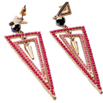 Amazon: Bohemian Style Triangle Red Rhinestone Earrings Only $3.99 Shipped (Reg. $23.24)