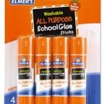 4-Pack of Elmer's Washable School Glue Sticks Only $1.97