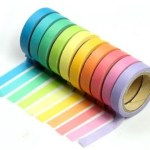 Amazon: 10-pack of Decorative Washi Rainbow Sticky Paper Tape Only $3.50 + FREE Shipping!