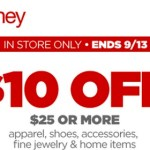 JCPenney Coupon: $10 off a $25 Purchase!