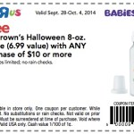 Babies R Us/Toys R Us: FREE Dr. Brown's Halloween 8-oz Bottle (VALUE of $6.99) Coupon!
