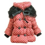Girls Kids Polka Dot Winter Parka Jacket Only $15.99 + FREE Shipping!
