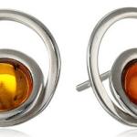Amazon: Honey Amber Sterling Silver Swirl Stud Earrings Only $15.88 (Reg. $31.94)