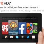Amazon: Kindle Fire HD 7, 7″ HD Display, Wi-Fi, 8 GB Only $119 Shipped (Reg. $139)