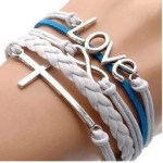 Amazon: Silver Infinite Love, Leather Rope Cross Bracelet ONLY $0.96 + FREE Shipping!