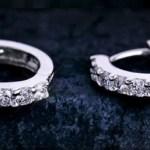Amazon: Sterling Silver Rhinestones Hoop Diamond Stud Earrings Only $4.97 + FREE shipping!