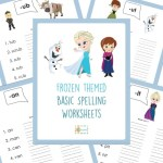 *HOT* FREE Frozen Spelling Worksheets