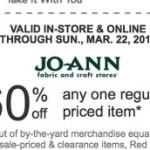Jo-Anne Fabrics: *HOT* 60% off One Regular-Priced Item Coupon!