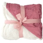 Amazon: Floral Embossed Sherpa Throw Blanket Only $15.99 (Reg. $40)