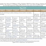 FREE May Declutter Calendar: 15 Minute Daily Missions to Declutter your Home!