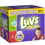 Luvs With Ultra Leakguards Size 1 Diapers 252 Count ONLY $23 Shipped (Reg. $37!)