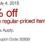 Staples: 20% off One Item Coupon!