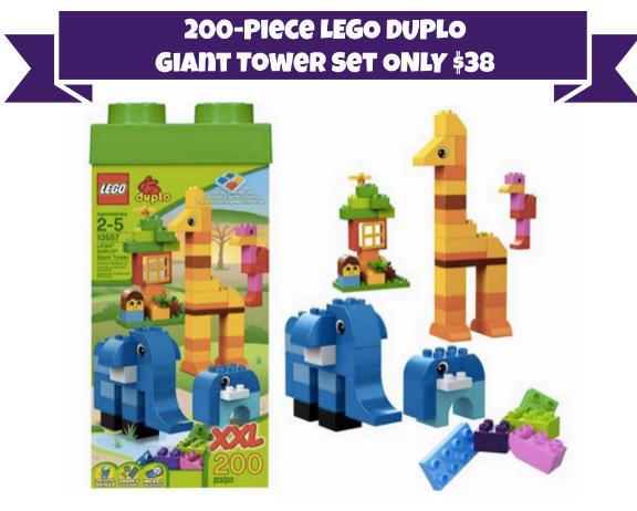 Hot 200 Piece Lego Duplo Giant Tower With Storage Box