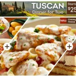 Olive Garden: 2 Entrees, Salad, Breadsticks, Soup and Desserts for 2 Only $25!