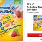 Target: PediaSure Sidekicks Strawberry Banana Smoothie Only $4.49