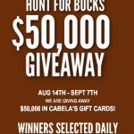 Enter to Win $50,000 in Cabela's Gift Cards!