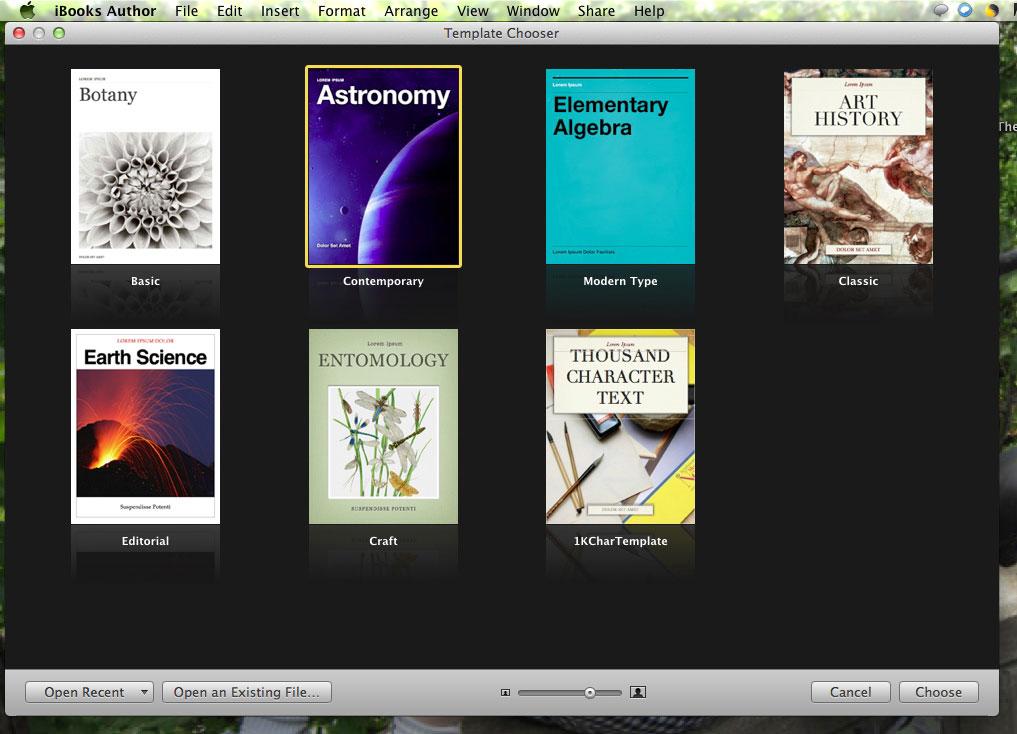 iBooks Author Templates RainyDayMagazine