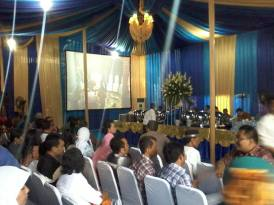 Sewa Big Screen, Tenda & Kursi dalam Wedding Party Ayodya & Resky