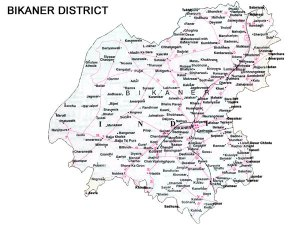 Bikaner District Road Map