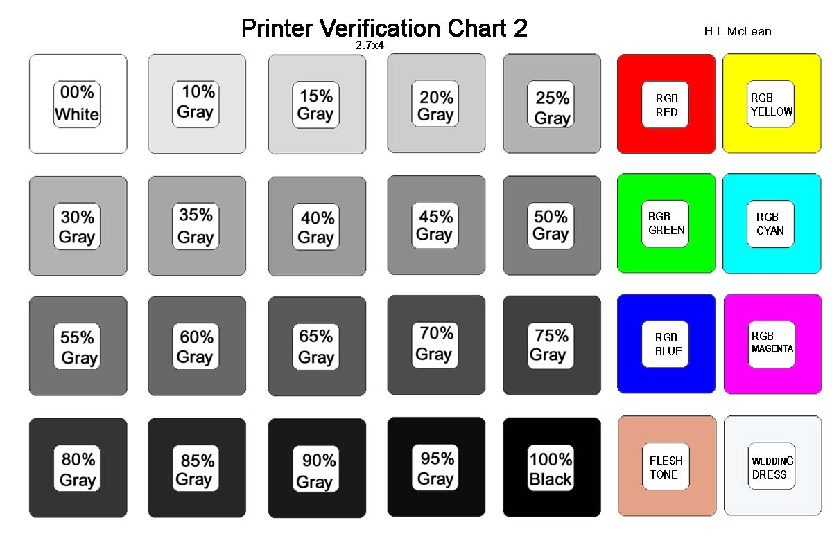 Color printing test - Filename Color Chart For Print Test Jpg