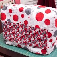Cute as a button sewing machine cover