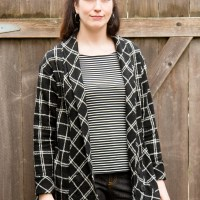 Completed: Plaid Wool Oslo Cardigan