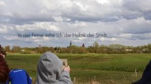 Standbild aus der Bild-Klang-Collage zu Caspar David Friedrich (Musik & Video: Martin Hiller, Texte: Schüler der Caspar-David-Friedrich-Schule, Greifswald)