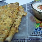 carrot onion paratha
