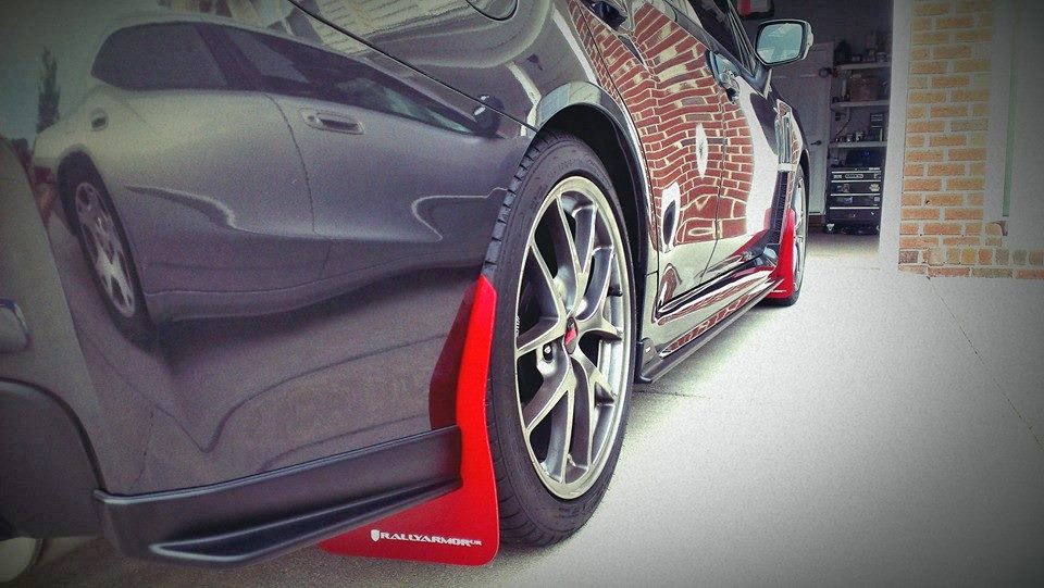 2015-19 Subaru WRX  STI Sedan Mud Flap Red Logo, Rally Armor