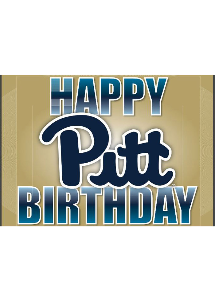 Pitt Panthers Happy Birthday Card - 21230761