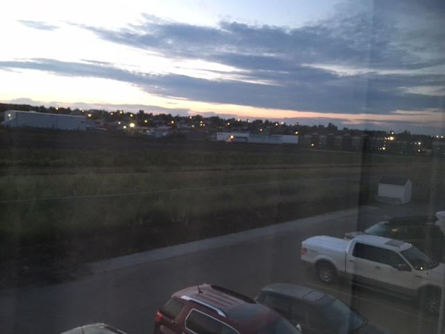 4 am out my hotel window in Dawson Creek