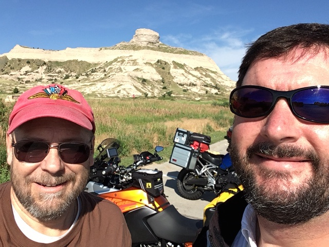 Ralph and Howard at Scotts Bluff National Monument.