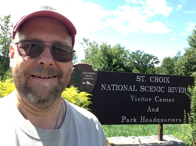 At the St. Croix National Scenic River visitor's center in St. Croix Falls, Wisconsin