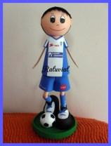 Fofucha futbolista Alcoyano de goma eva