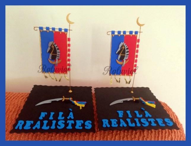 Banderín y sable Filá Realistas Alcoy 2