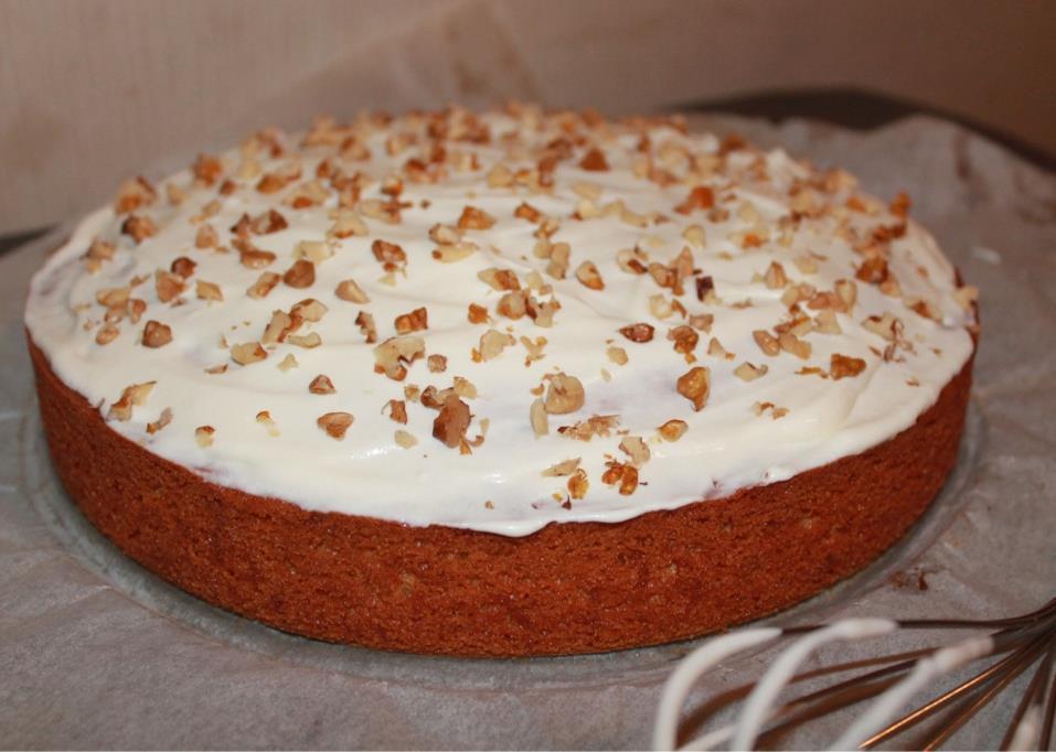 Carrot Cake met crème fraiche topping