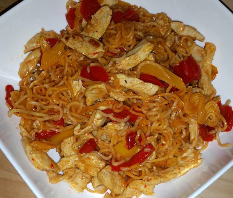 Woknoedels met Sweet Chili kip