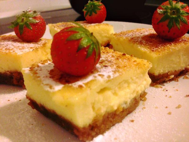 Cheesecake Crème brûlée Bars